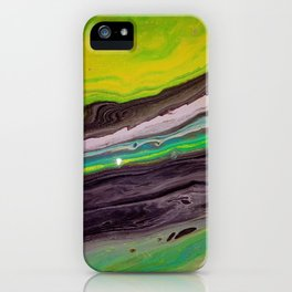 Greenpeace, acrylic on canvas iPhone Case