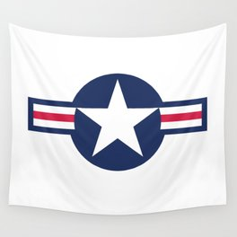 US Airforce style roundel star - High Quality image Wall Tapestry