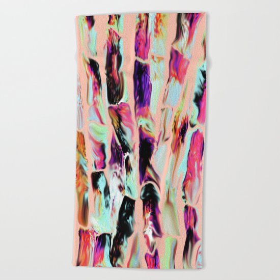 Marbling Sugarcane Peach Beach Towel