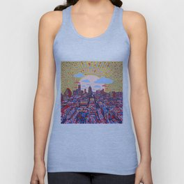 austin texas city skyline Unisex Tank Top