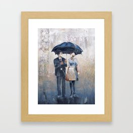 Their Umbrella Framed Art Print