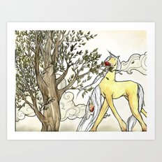 Blood Horse Art Print