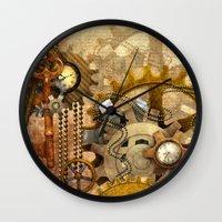 steampunk Wall Clocks featuring steampunk by Ancello