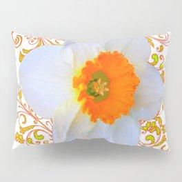 SPRING DAFFODIL SCROLLS ART GARDEN PATTERN Pillow Sham