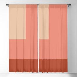 terracotta color block   Blackout Curtain