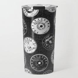 Dark Vintage Motorcycle Speedometers Travel Mug