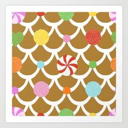 Gingerbread House Roof Art Print