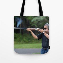 President Barack Obama Shoots Clay Targets at Camp David Tote Bag