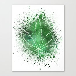 Pot Leaf Space Dust Canvas Print
