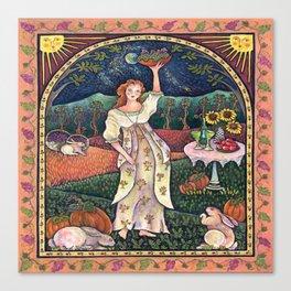 Wine Harvest Maiden Canvas Print