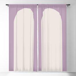 Minimal Arch - Mauve Blackout Curtain