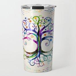 Watercolor Tree of life Travel Mug