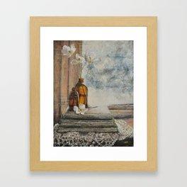 one quiet morning Framed Art Print