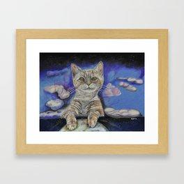 Angel Kitty Framed Art Print