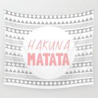 hakuna Wall Tapestries featuring Hakuna Matata II by M Studio