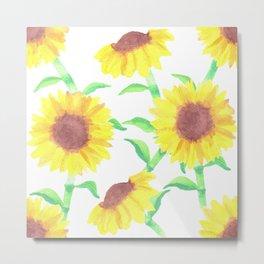Sunflowers in summer Metal Print