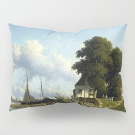 At Elshout Sun 1854 By Johan Hendrik Weissenbruch | Reproduction Pillow Sham