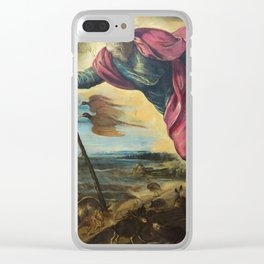 """Tintoretto (Jacopo Robusti) """"Creation of the animals"""" Clear iPhone Case"""