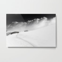 snow and cloud Metal Print