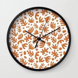 Matisse Paper Cuts // Terracotta Wall Clock