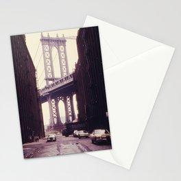 New York City - Manhattan Bridge Tower in Brooklyn Stationery Cards