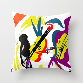 WAGENSEIL: Violin Concerto                 by Kay   Lipton Throw Pillow