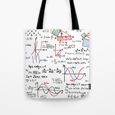 Math Cheat Sheet Tote Bag