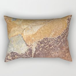 Natural Red Rift Rectangular Pillow
