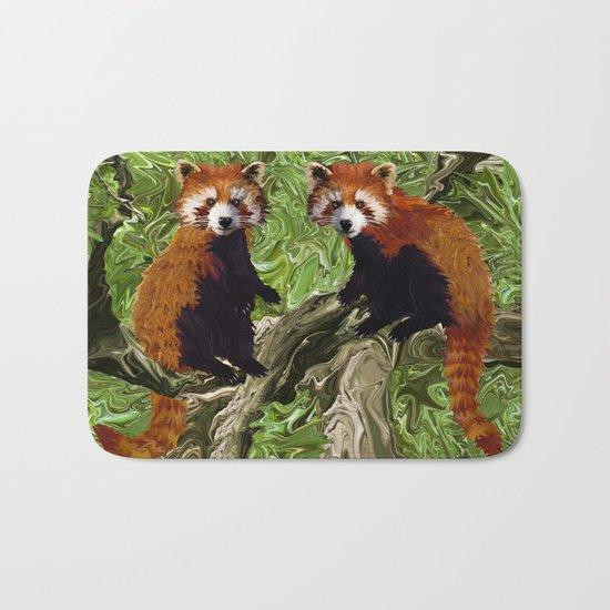 Frolicking Red Pandas Bath Mat