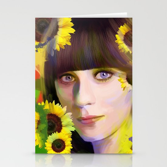 Zooey Deschanel Stationery Cards