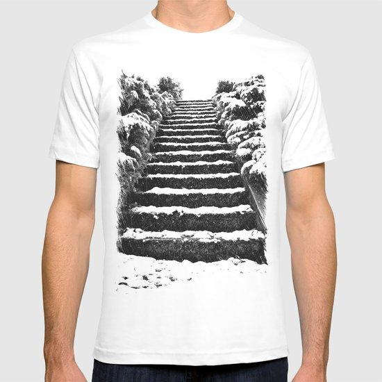 Winter stairway T-shirt