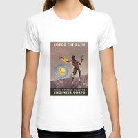battlefield T-shirts featuring Mass Effect 3- Engineer Propaganda by Joe Byrne