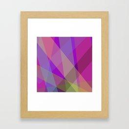 Stripes - Purple Framed Art Print