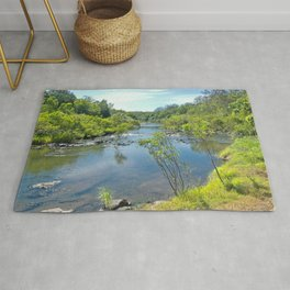 Magnificent tranquil river Rug