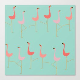 MARCH OF THE FLAMINGOS Canvas Print