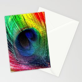 pluma de pavo real ( peacock feather ) Stationery Cards