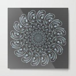 Aqua Flake Metal Print