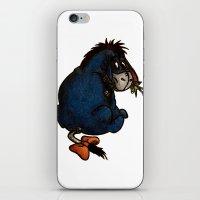 eeyore iPhone & iPod Skins featuring Eeyore by VAWART