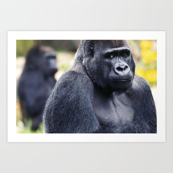 Hello Mr. Gorilla Art Print