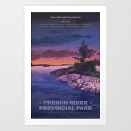 French River Provincial Park Art Print