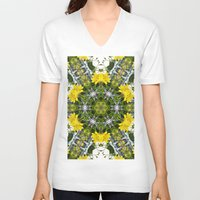 marc johns V-neck T-shirts featuring Kaleidoscope of showy St Johns Wort  by Wendy Townrow