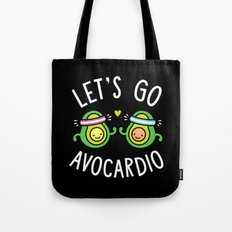 Let's Go Avocardio Tote Bag
