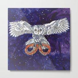 Owl & Snake Metal Print
