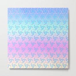Pastel Crescents Metal Print