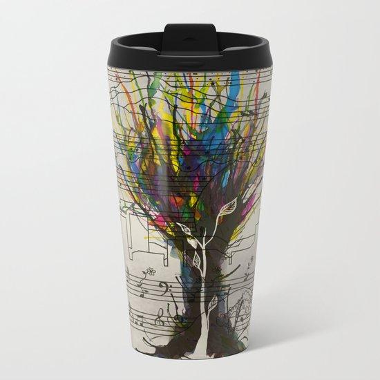 Ink Chords Metal Travel Mug