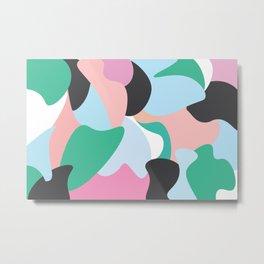 Colourfully Minimal Metal Print