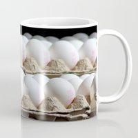 eggs Mugs featuring EGGS by Avigur