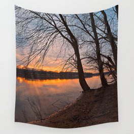 Potomac River Sunset Wall Tapestry