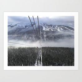 Peak2Peak gondola route Art Print