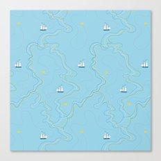 Sailing for the treasure Canvas Print